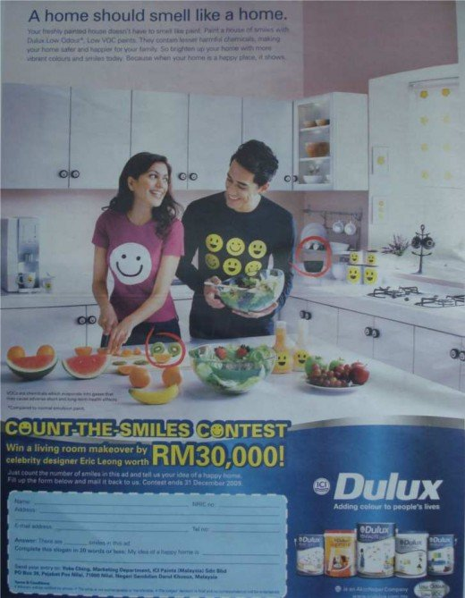 Dulux count the smile contest