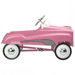 pink toy pedal cars for girls