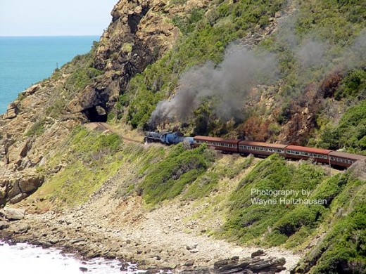 Outeniqua Choo Tjoe Train Approaching Tunnel