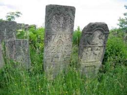 Old Jewish cemetery in Bucovina, Romania