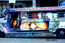 Side decorations on the jeepney