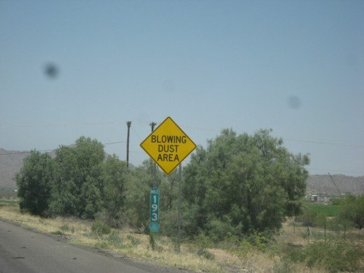 A Standard Highway Warning Sign