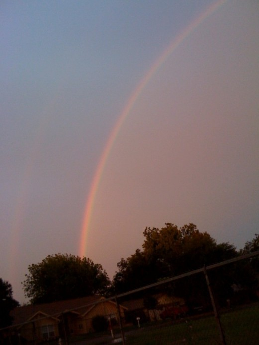 One end of the double rainbow.