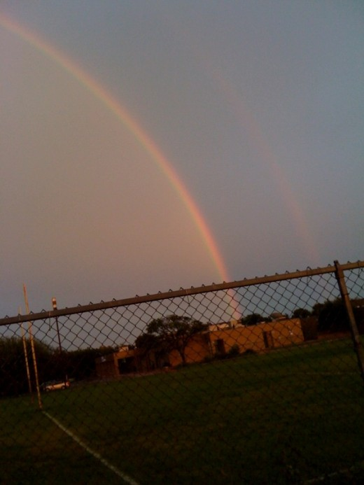 The other end of the double rainbow.