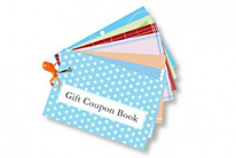 example of a gift coupon book