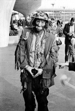I wonder if anyone masquerades as Emmett Kelly on April 1st in Jonesboro?