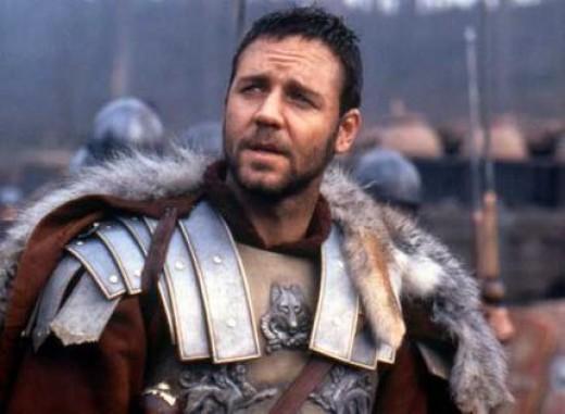 Gladiator, Russell Crowe as Maximus Aurelius, 2000