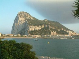 The Rock of Gibraltar, you will note that it has it's own personal cloud!