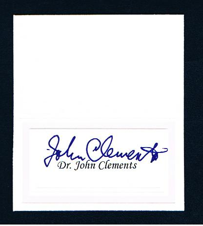 I got a little greedy and secured his autograph a fourth time, and yet Dr. Clements was happy to sign each time.