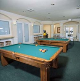 Windsor Palms Game Room next to theatre and fitness room