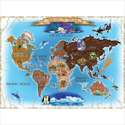 Melissa & Doug 500 piece Jigsaw Puzzle (Continents)