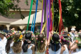 Dancing around the Maypole...Does that look fun or what?