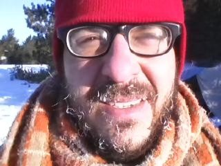 The author sporting an ice beard while winter camping. Photo credit: Joe Zoltak