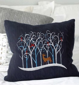 A Pillow Embroidered.