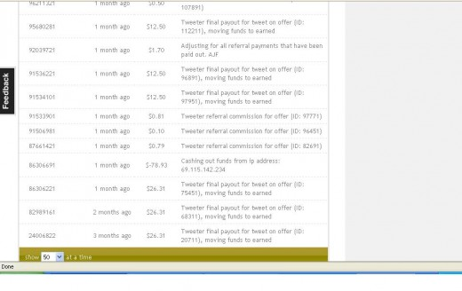 SponsoredTweets is legit!  Check out a screenshot of my payments.