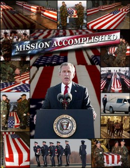 If President Bush set out to mismanage two wars, destory the economy and lose an entire city then: Mission Accomplished