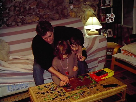 doing puzzles