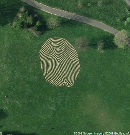 This Photo looks like human finger print but in real it is a photo of a park in UK called Hove.Its area is 38 meter.