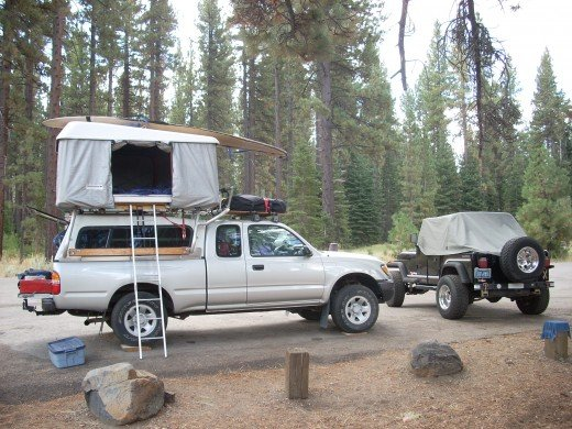 Take your camp anywhere with your 4X4 vehicle!