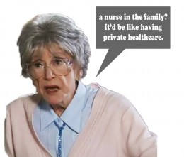 Blanche's attitude when Peter Barlow was dating a nurse