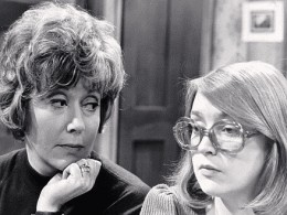 Young Deidre and her once famous spectacles with a younger Maggie Jones on the left, playing Blanche.