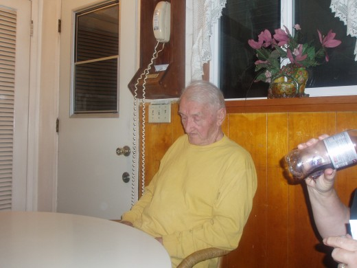 Here's another friend who is old.  He has wonder-filled stories of fleeing both Russia and Germany and eventually finding his way to America back in the forties