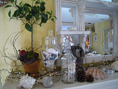 Decorated Mantel for Winter!    from flickr.com by:oh so very...
