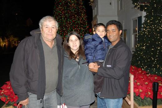 Dad, Jaime, Ethan, Yosef