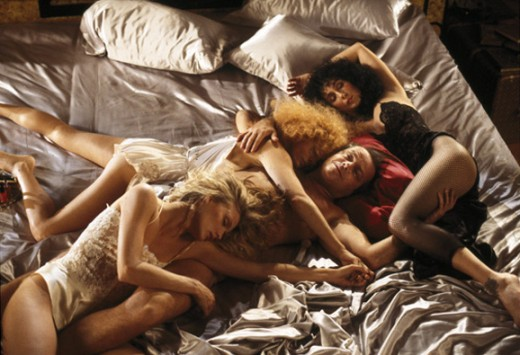 Jack Nickolson, Susan Sarandon, Cher and Michele Pfeiffer in The Witches of Eastwick