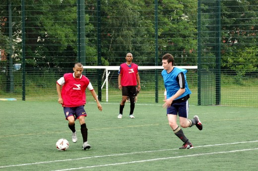 Tipu showing off his skills in the final. Wirral Bengal FC vs Polish Team