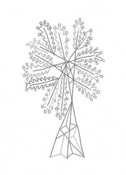Abstract Drawing Christmas Trees Kids Coloring Pages Free Colouring Pictures to Print