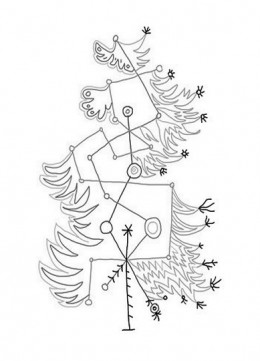 abstract trees coloring pages - photo#20