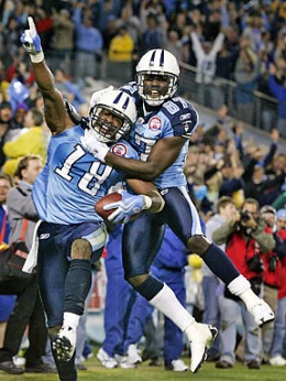 Kenny Britt Celebrates his Game Winning TD catch