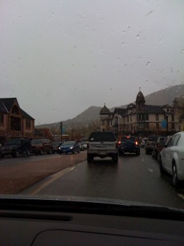 Manitou Springs on a cold Fall Day