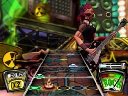 The Guitar Hero Game Screen