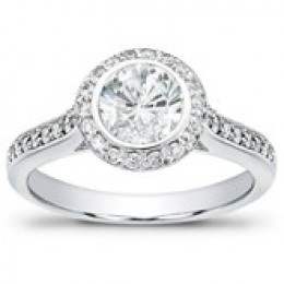 Adiamor Pave Diamond Engagement Ring