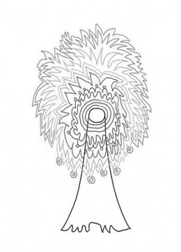abstract trees coloring pages - photo#25