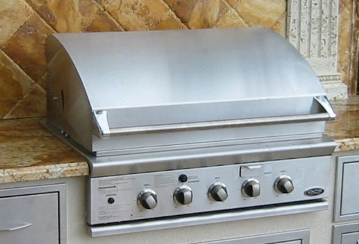 "dcs built in 36"" gas grill-head"