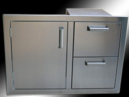 built in combination access door with drawers