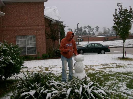Our little snow man