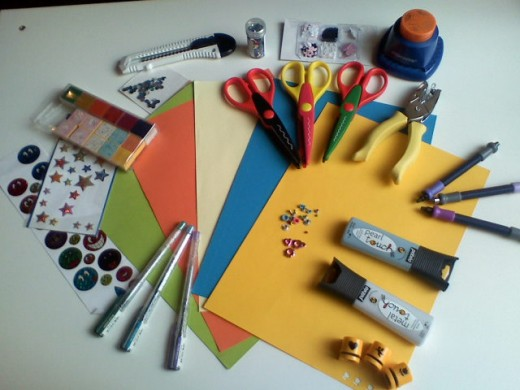 Scrapbook supplies (Photo Credit: Wikimedia Commons)