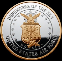 An Air Force challenge coin