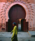 The Morocco you imagine, wonderful carvings on Arabesque doorways..