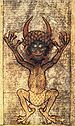Depiction of the Devil as seen in the Codex Gigas.