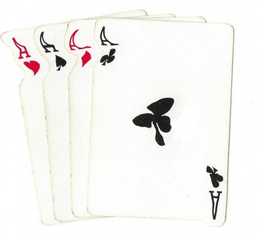 Poker Clip Art - 4 Aces Goo Effect