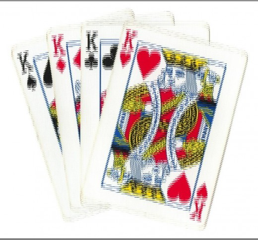 Poker Clip Art - 4 Kings Vibration Effect
