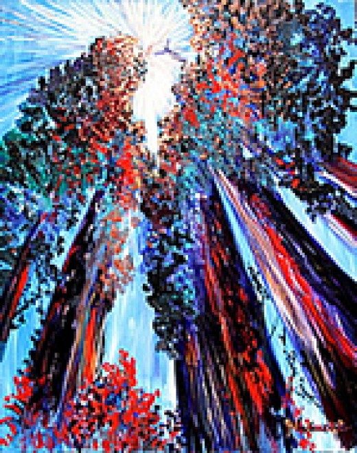 """Reaching Up"" Giclee 8 x 10 Prints on Canvas by Janice Vanchronkhite"