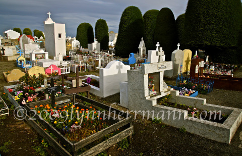 The cemetery of Punta Arenas offers exception photography ideas.  As with most all cemeteries in Latin America, there is a spiritual and colorful awareness about them.