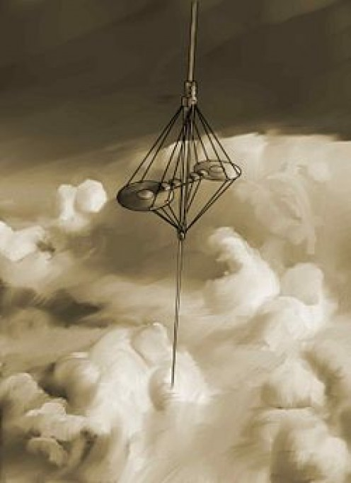 Artist's depiction of the space elevator