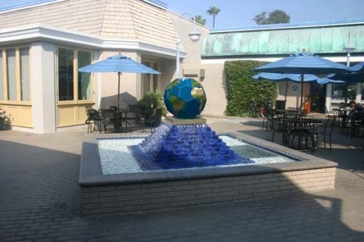 Newport Geographic's fountain, Newport Beach California[1].